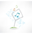 plate music grunge icon vector image vector image