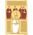 Pope and cardinals vector | Price: 1 Credit (USD $1)