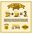 poster beer vector image vector image