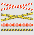 realistic 3d detailed line tape striped set vector image