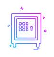 safe icon design vector image vector image