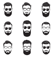 set bearded men faces vector image