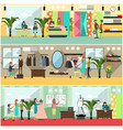 set of fashion atelier posters banners in vector image vector image