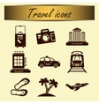 Set of travel icons for tourism business vector image vector image