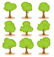 Set of trees in hand-drawn style vector image vector image