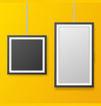wall picture frame templates isolated on orange vector image vector image