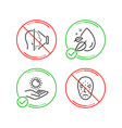 water drop sun protection and face id icons set vector image vector image