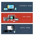 Web design responsive and graphic design vector image vector image