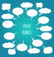 white speech bubbles set design elements vector image vector image