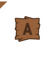 wooden alphabet or font blocks with letter a in vector image vector image