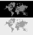 world map dots style vector image