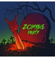zombie hand coming out from grave vector image