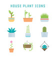 house plant icons vector image