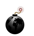 isolated bomb icon vector image