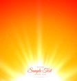 bright shiny sunburst background vector image