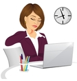 female office worker suffering neck pain vector image