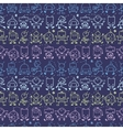 Doodle robots stripes seamless pattern background vector image