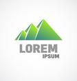 Mountains or pyramids logo template Fundamental vector image