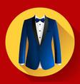dark blue man suit icon vector image
