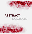 abstract maroon hexagon overlapping background vector image vector image