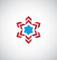 abstract star symbol logo vector image