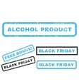 Alcohol Product Rubber Stamp vector image vector image