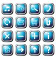 aqua square buttons vector image vector image