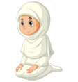 arab muslim girl in traditional clothing isolated vector image vector image