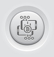 bitcoin transaction button icon vector image vector image