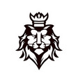 black and white lion king used for logos and vector image