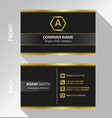 black dark business card modern flat design vector image