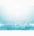 blue medical science background vector image vector image