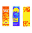 blue sea and bright yellow sun summer heat and vector image vector image