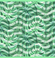 botany monstera leaves and chevron lines trendy vector image
