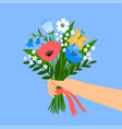 bouquet wild flowers vector image