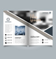 brochure geometric layout design template annual vector image vector image