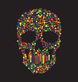 bunny skull wallpaper vector image vector image