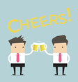 Business man to toast with beer vector image vector image