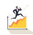 business success concept in flat design vector image vector image