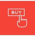 Buy button line icon vector image vector image