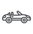 cabriolet line icon transport and drive vector image vector image