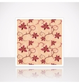 Card with Floral Seamless Pattern vector image vector image