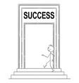 cartoon confident man or businessman walking vector image vector image