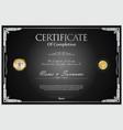 certificate retro design template 03 vector image vector image