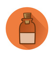 chemical bottle vector image