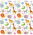 children seamless wallpaper with cute and vector image vector image