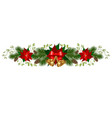 christmas holiday decorations vector image vector image