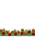 christmas tree branches decorated with balls vector image vector image