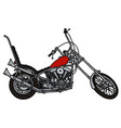 classic red chopper vector image vector image