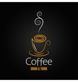 coffee cup abstract ornate design background vector image vector image